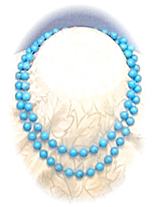 31 Inch Turquoise Bead Necklace