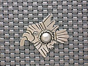 TAXCO  Mexican Serafin Moctezuma Silver Eagle Pin . . . (Image1)