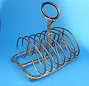 Vintage brass Victorian Toast Rack - letter holder (Image1)