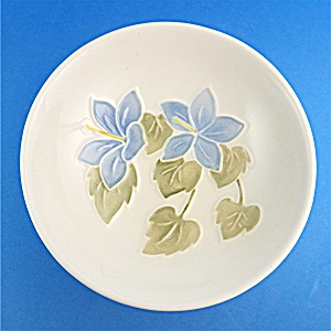 MOORCROFT blue hibiscus dish  - England (Image1)