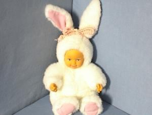 Anne Geddes White Child Rabbitt Doll