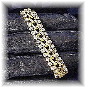 Goldtone and Sparkling Rhinestone Bracelet (Image1)