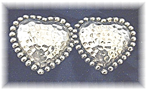 Large Sterling Silver CAJ Heart Earrings (Image1)