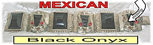 Mexican Silver & Black Onyx Bracelet (Image1)