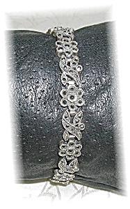 Vintage  Sterling Silver & Marquisite Bracele (Image1)