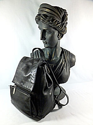 Hobo Inetnational Backpack Purse Black Leather (Image1)