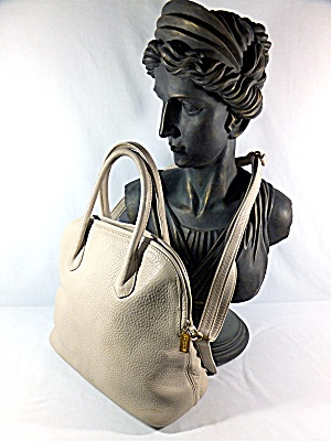Bag Coach Cream Pebble Leather
