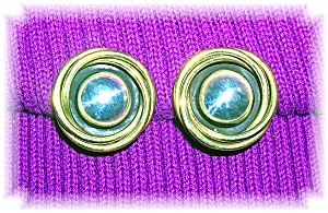 Sterling Silver Mexico Signed LATON Clip Earrings (Image1)