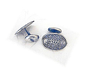 Vintage Sterling Silver Cuff Links. (Image1)