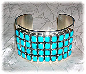 Native American Paul Livingston Sterling Silver Turquoi