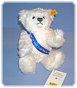 White STEIFF 100 Years Of Steiff In America Teddy Bear (Image1)