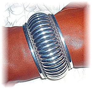 Native American Thomas Charley Sterling Silver Cuff