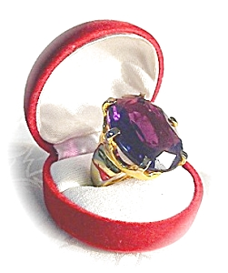 Huge Claw Set Glass Amethyst Ring . . . .