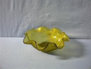 Small Fluted Green/Yellow Candy Dish (Image1)