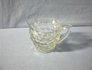 Small White Depression Glass Creamer.