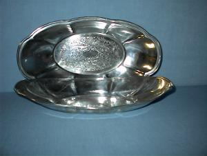 2 Large Silverplate On Copper Fruit Dishes (Image1)