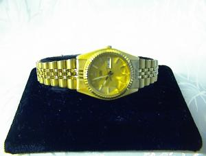 SEIKO Date  Ladies Goldtone Band Wrist  Watch (Image1)