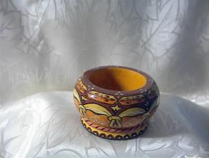 Small Earthenware Multi Color Egg Cup