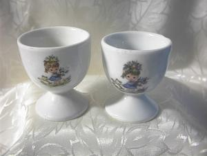 Egg Cups China Children and Kitties  (Image1)