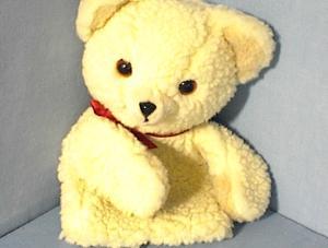 1986 Snuggle Bear Russ Berrie Glove Puppet (Image1)