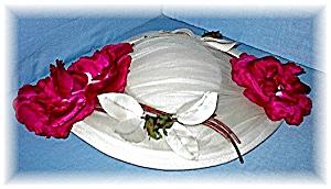 Fabulous Vintage Hat Silk & Velvet Roses. (Image1)