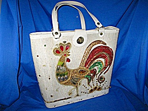 Vintage Jewelled Rooster Bucket Bag (Image1)