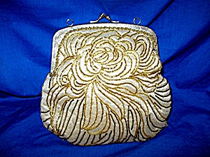 La Regale Evening Bag - Vintage Gold Beaded (Image1)