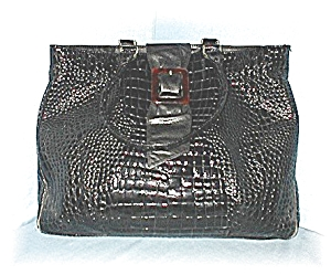 Large Black Patent Leather Tote Bag (Image1)
