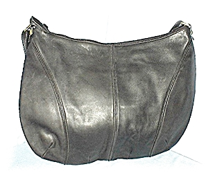 Enormous Saks Fith Avenue Black Leather Bag