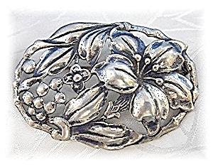 Danecraft Sterling Silver Flowers Vines Brooch (Image1)