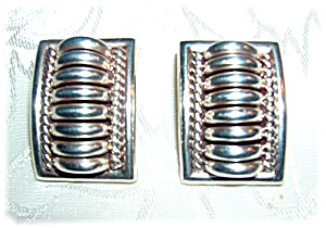 Native American Sterling Silver Clip Earrings Tommie Ch