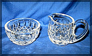 Waterford creamer and sugar set Lismore (Image1)