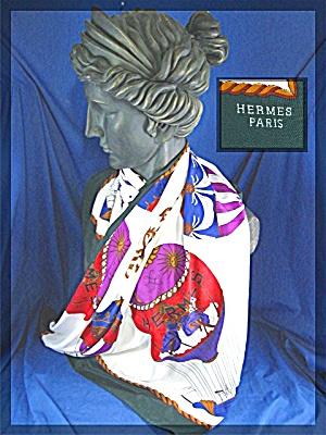 Silk scarf HERMES Style  Paris 100% (Image1)