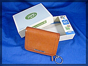 Fossil key coin purse tan leather multi functio (Image1)