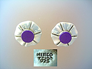 Mexican Sterling Silver Clip Earrings (Image1)