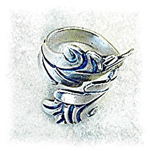 Sterling Silver A CAZARES Wrap Ring Mexico . . . . . . (Image1)