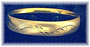 Gold Filled Bangle Bracelet 1/20 12K 50s (Image1)