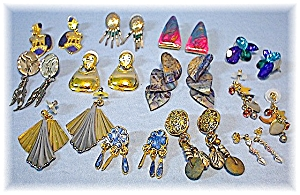 Goldtone Sterling Silvertone Bags Of Earrings (Image1)