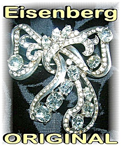 Brooch Eisenberg Original Bow Sterling Silver
