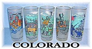 5 Vintage COLORADO TUMBLERS CENTENNIAL (Image1)