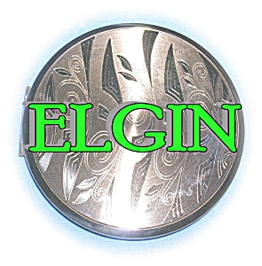 COMPACT Goldtone ELGIN American powder  (Image1)