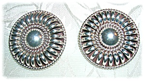 Native American Sterling Silver Clip Earrings Thomas Ch