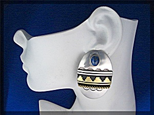 Native American Tommy Singer Sterling Silver Gold Lapis