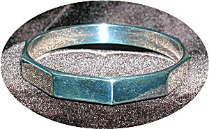 Silvertone Bangle Bracelet (Image1)