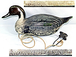 Vintage feather-lite Duck Decoy  1954 (Image1)