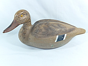 Vintage QUACKERS Duck Decoy - hen (Image1)