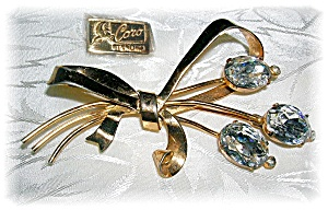 Crystal Sterling Silver Vermiel Flower Bow Br (Image1)