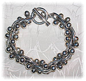 Taxco Mexico Sterling Silver Spratling Style Bracelet (Image1)