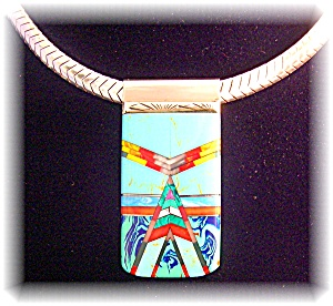 Sterling Silver Turquoise Spiny Oyster Lapis Money Clip