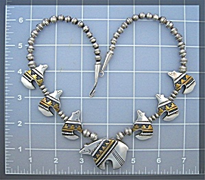 Tommy Singer Bears Sterling Silver Necklace Navajo